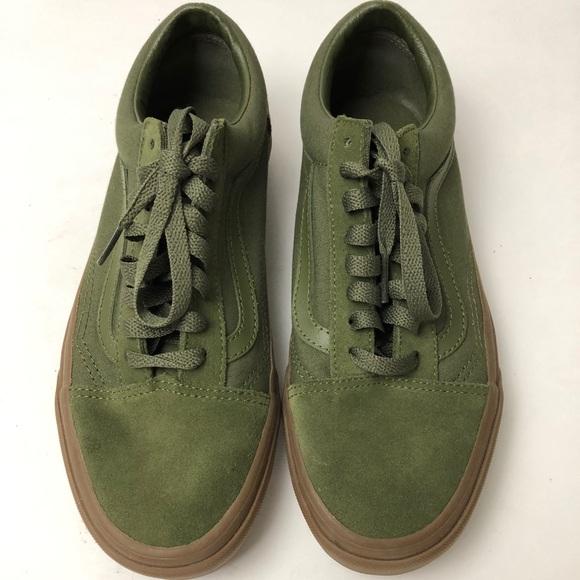 Army Green Vans women s size 9 Men s 7.5. M 5b4a825e8ad2f976209d5265 8030c5b33